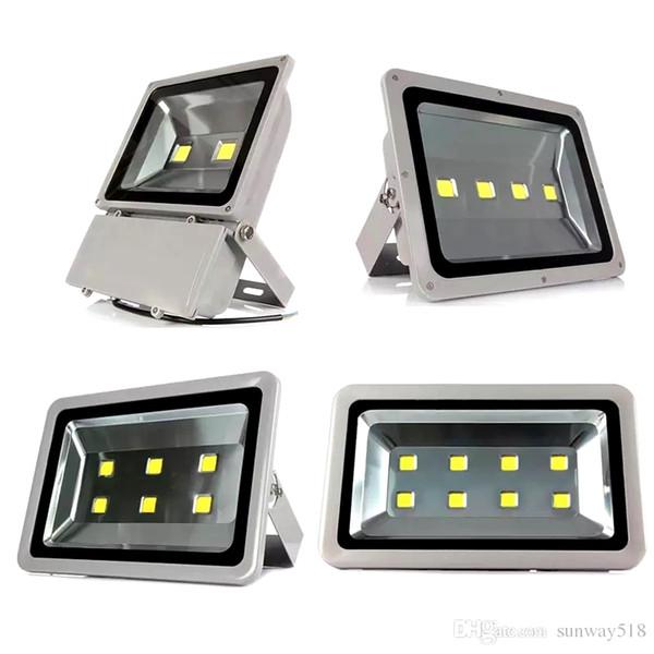 Levou Projecto Ao Ar Livre Projecto DHL IP65 À Prova D 'Água 100 W 200 W 300 W 400 W conduziu a Lâmpada Refletores de COB iluminação 85-265 V Super Brilhante luzes de inundação