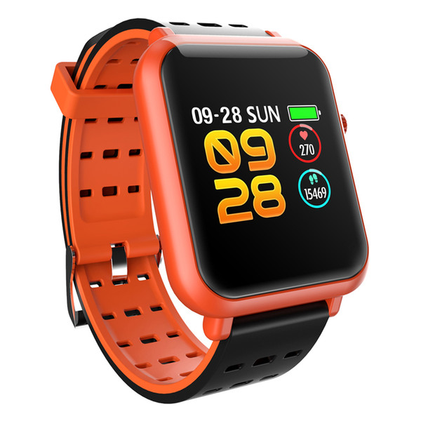 RUIJIE Q8 Mini Waterproof Smart Bracelet 1.2inch Color Screen Heart Rate  Fitness Tracker Smart Watch
