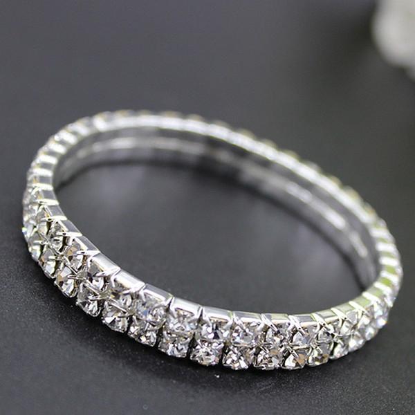 Diamante de moda pulseras nupciales diseñador Cristal de lujo pulseras nupciales de la joyería para las mujeres Accesorios baratos de la boda taladros del agua del brazalete