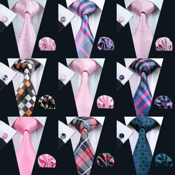 Venta al por mayor nuevo estilo clásico para hombre corbata conjunto gemelos de seda pañuelo jacquard corbata tejida hombres corbata conjunto fiesta de negocios trabajo boda 900 estilos