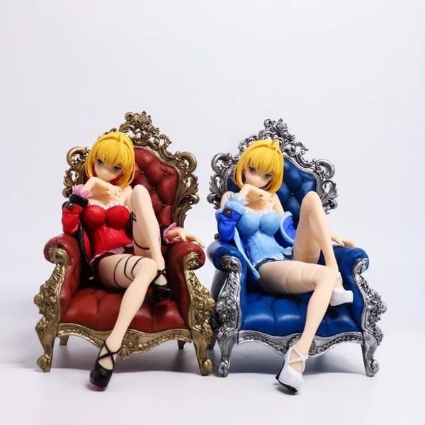 Fate Stay Night Black Saber Throne Sexy Pajamas Model doll PVC 16cm box-packed Japanese Anime figurine Action figure 180110