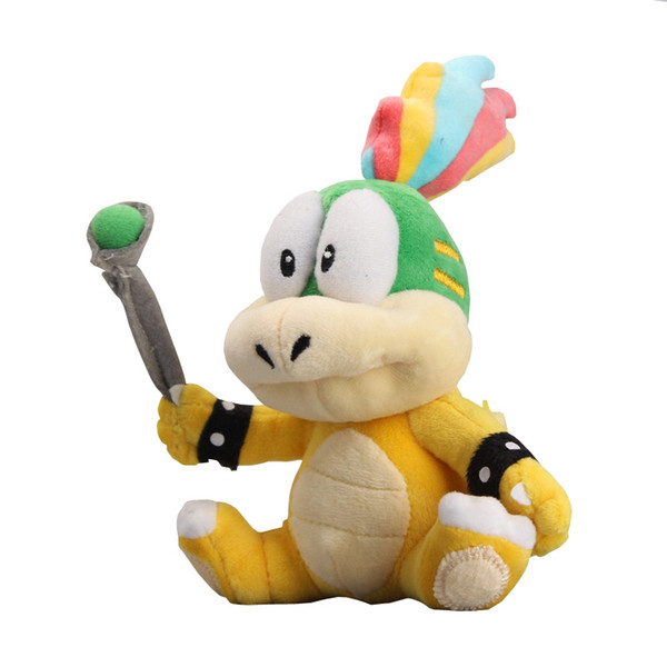 "New Super Mario Koopalings Lemmy O Koopa Plush Stuffed Toys For Child Gifts Wholesale ( Size : 8"" 20CM)"