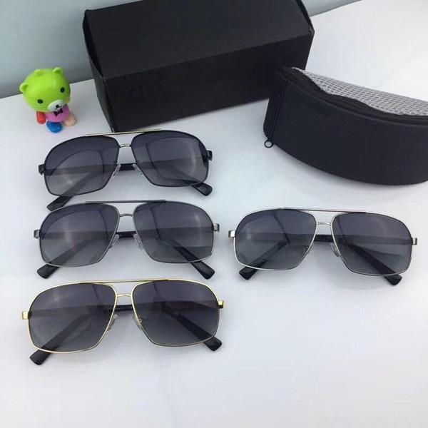 Compre Gafas De Sol De Lujo Para Hombre De Diseño Barato Gris ...