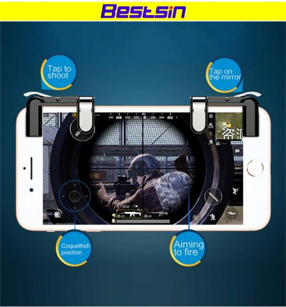 Beststin Knives out Regeln des Überlebens Handy Spiel Feuer Button Ziel Schlüssel Smartphone Mobile Gaming Trigger L1R1 Shooter Controller PUBG