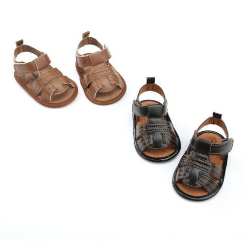 Toddler Baby Boys Girls Shoes Cowboy Sandals Kids Anti-slip Soft Crib Sole Sneakers Shoes Girl