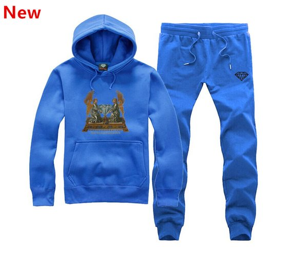 New Diamond Supply sweat suit Autumn sportswear sport men clothes track suits tracksuits male sweatshirts +Pants Plus Size 3XL X14