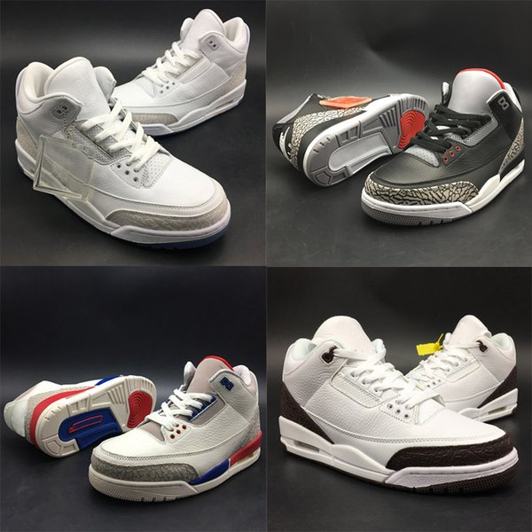 2018 Newest OG Three Basketball Shoes NRG Grateful Free Throw Line Katrina Charity Game designer Athletic Sport Sneakers Triple White Boxed