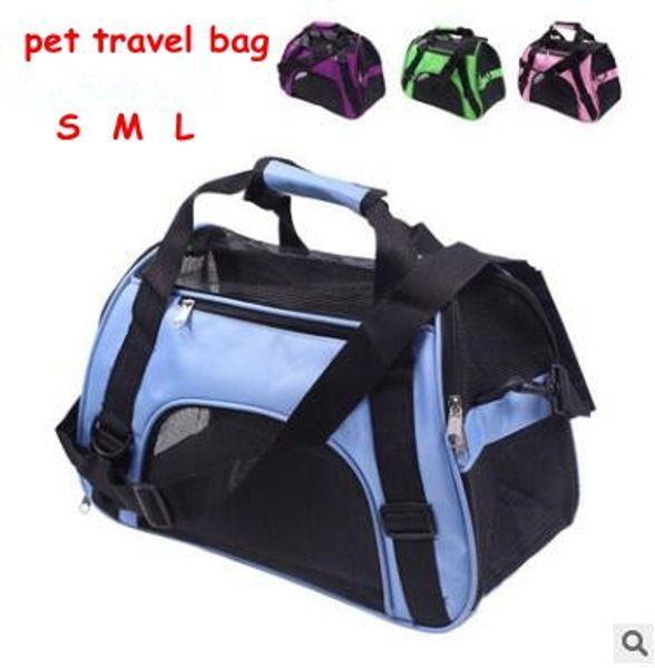 Pet Carrier Mochila portátil para mascotas Messenger Carrier Bags Cat Dog Carrier Outgoing Travel Teddy Paquetes Transpirable Pequeño bolso para mascotas