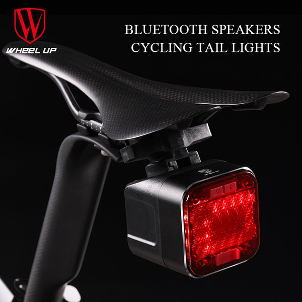 wholesale USB Rechargeable Bicycle Light LED Bike Cycling Waterproof Taillight Bluetooth Speaker Safety Night Riding Rear Light