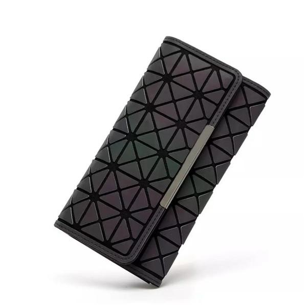 luminosa baobao billetera de cuero de la PU de las mujeres carteras de moda famoso diseñador japón estilo geométrico bolsos del partido láser bao bao billeteras