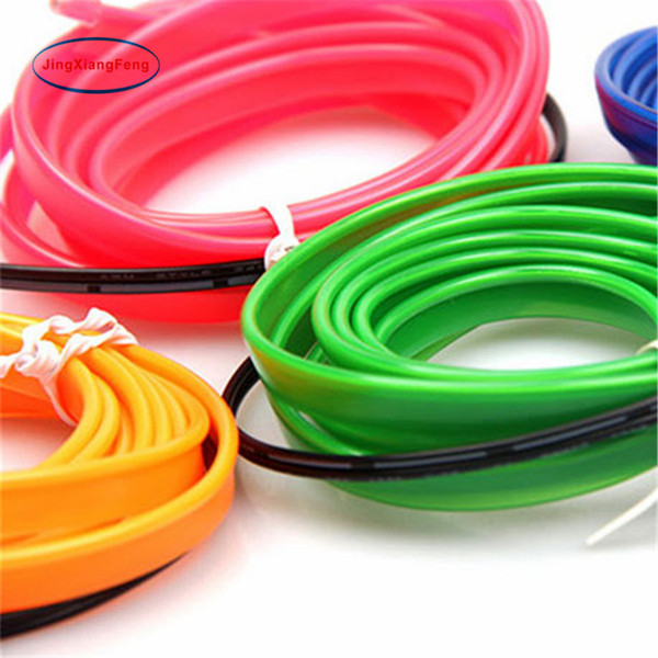 10 Colors Cool 1PC 3M DIY Decoration Auto Car Interior LED EL Wire Rope Tube Neon Light Line