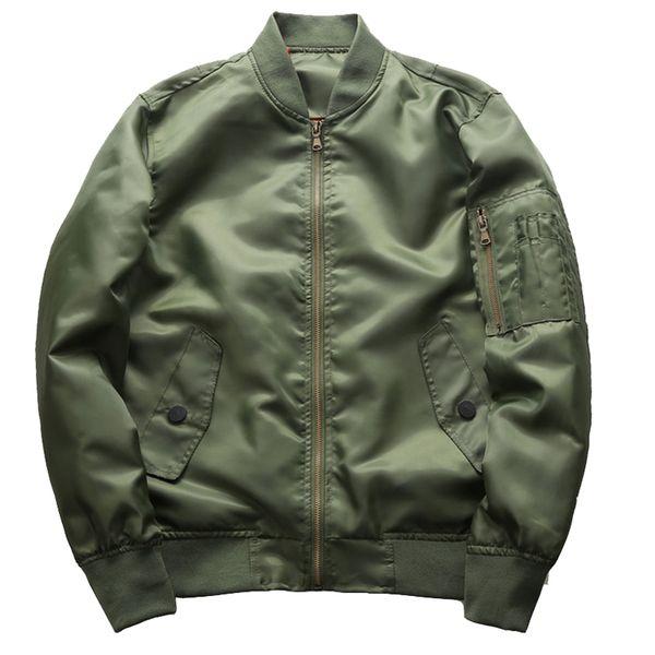 Autumn Bomber Jacket 2018 Pilot Outerwear Men Army Green Flight Homme Jackets Military Jaqueta Masculina Mens Coat plus size 6XL
