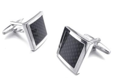 Wholesale-High quality Cufflink 1 pair 1 lot Carbon fiber cufflinks for men shirt cufflink designer cuff links birthday gifts free shipping