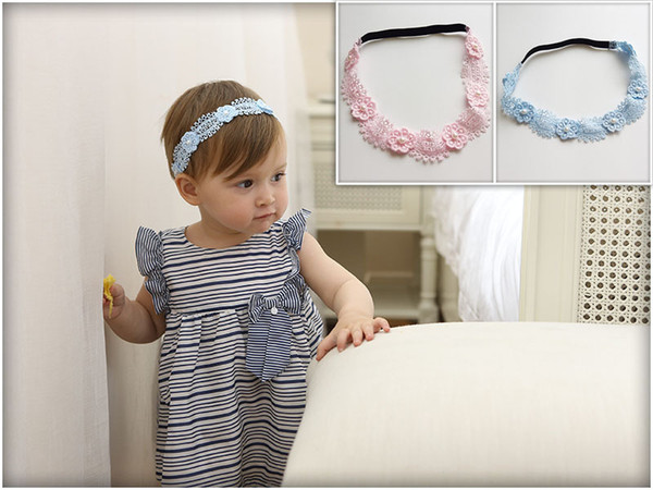 12Pcs Baby Lovely Lace Flower Princess Headbands Elastic Hair Bands Toddler Kids Headwear Hair Accessories Beautiful HuiLin BH43