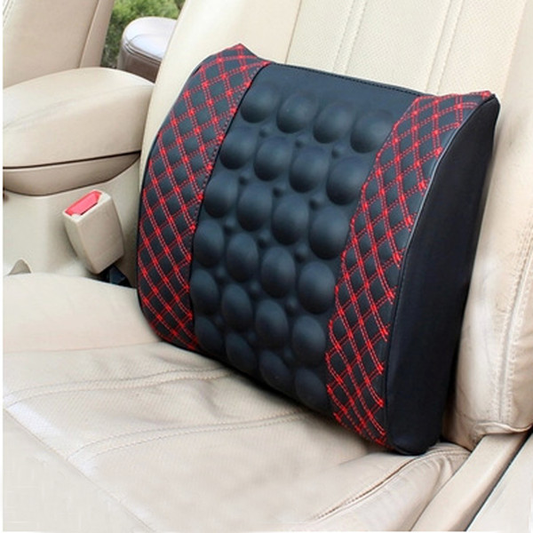 top popular Car Use Electric Waist Lumbar Massage Pad Back Massage Pad Infrared Therapy Device For Waist Back Pain Relief Driving Relaxing 2021