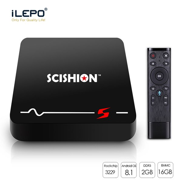 Model S TV BOX Rockchip RK3229 Quad Core Android 8.1 TV Box 2GB 16GB ROM TV BOX Built in Wifi Media Player