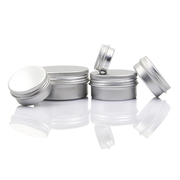 Vazio de Alumínio Lip Balm Recipientes Cosméticos Frascos De Creme Estanho Artesanato Pote Garrafa 5 10 15 30 50 100g