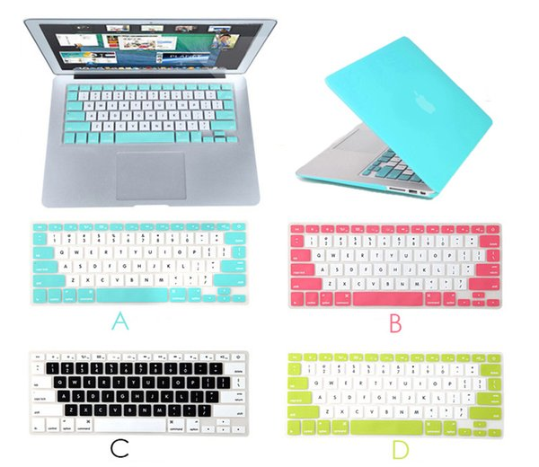 Fashion design Laptop Keyboard Case for MacBook Air 11 13 Pro Retina 15 silicone protective shell wateproof dustproof case