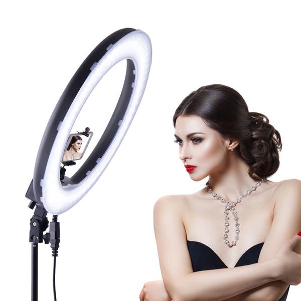 2 M Kamera DV tripod 18-inch LED Halka Şeklindeki Makyaj Lambası Fotoğraf Lamba cep telefonu Ağ doğrudan yayın Için özçekim Lambaları özçekim ışıkları