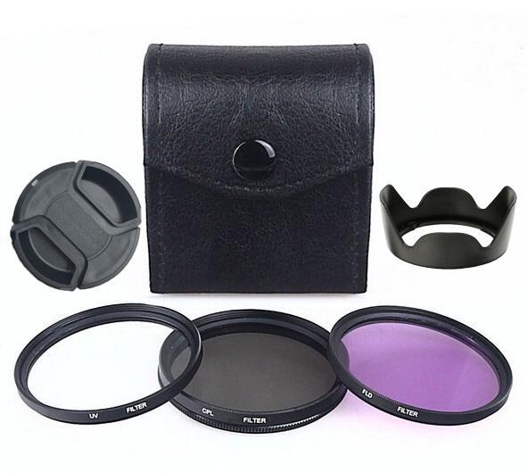 top popular 49mm, 52mm, 55mm, 58mm, 62mm, 67mm, 72mm, 77mm, 82mm UV+CPL+FLD Circular Filter Kit Polarizer Filter Fluorescent Filter 2021