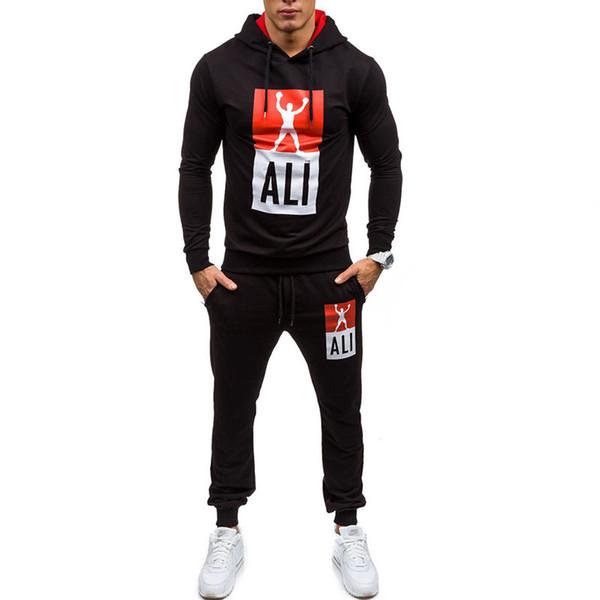 lily1015 / Neue 2018 Männliche Mode Sweatshirts Kleidung Strickjacke Designer Trainingsanzug Set Sommer Männer Sweatshirt Hosen Set Männer Sweatshirt Hosen S
