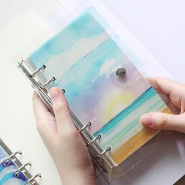 6 шт./компл. прекрасный летний пляж PP Биндер, A5 A6 рассекатель страницы свободный лист ноутбука, спиральный Дневник DIY аксессуар