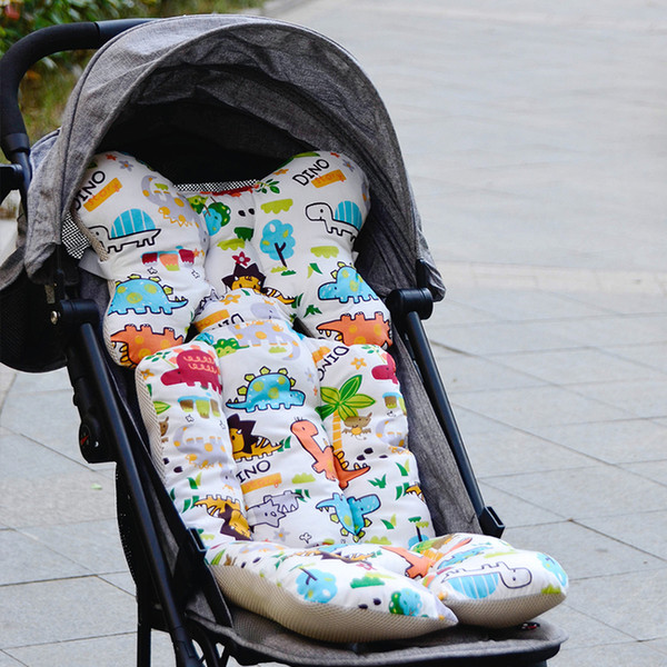 Baby Printed Stroller Pad Seat Warm Cushion Pad Mattresses Pillow Cover Child Carriage Cart Thicken Trolley Chair Cushion
