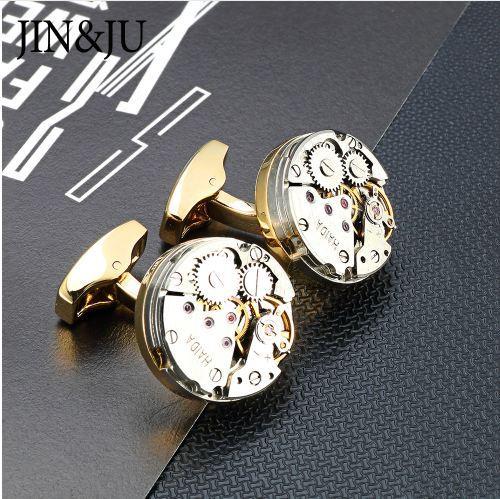Jinju reloj gemelos de movimiento para el mecanismo de reloj de engranajes de Steampunk inmovilizable Gemelos