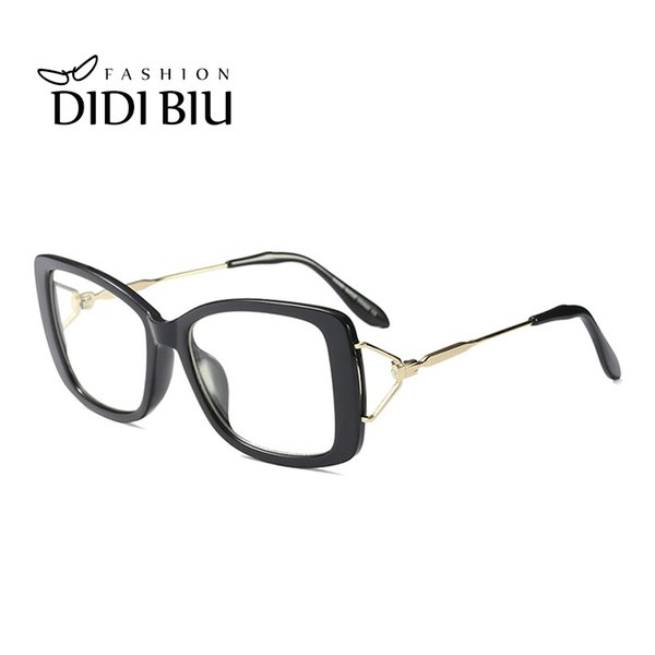 Ladies Elegant Butterfly Eyeglasses Frame Clear Lens Women Brand Unique White Spectacle Red Leopard Myopia Optical Glasses WN995