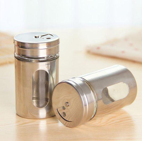 Prezzo più basso 200 pz / lotto Tazza di Stuzzicadenti Spice Vaso Bottiglia di Stoccaggio Condimento Spice Dispenser Contenitore Shaker Cucina Nuovo SN1199