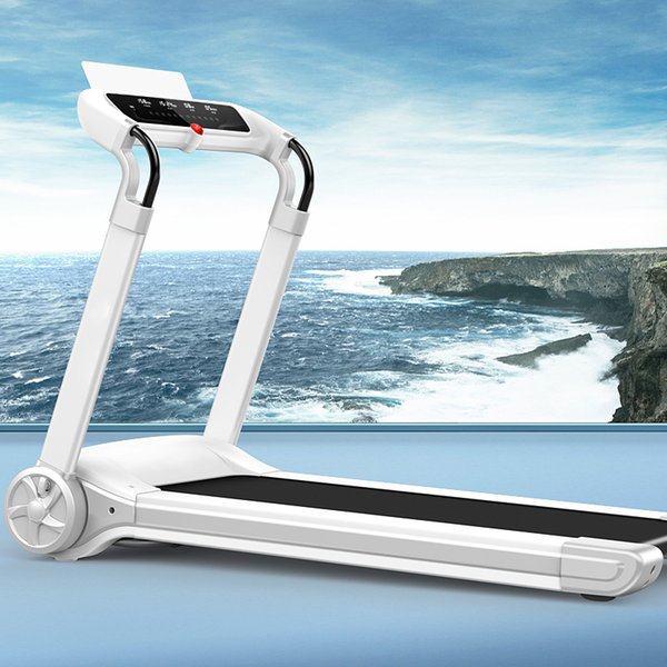 best selling White Folding New Electric Treadmill Mini Folding Electric Running Training Fitness Treadmill Home sports fitness