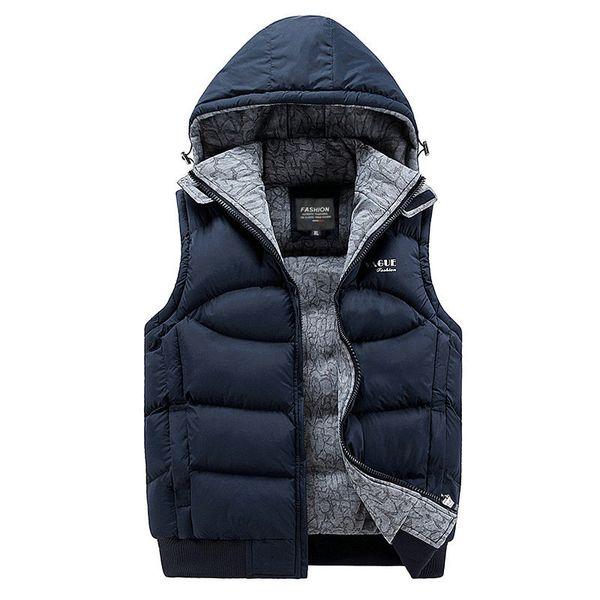 2018 New Stylish Autumn Winter Vest Men High Quality Hood Warm Sleeveless Jacket Waistcoat Men (Asian Size) C18111601