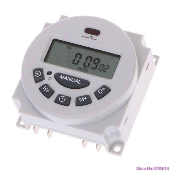 DC12V AC220V Dijital LCD Haftalık Programlanabilir Zaman Anahtarı Röle Elektronik Zamanlayıcı