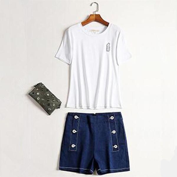 Summer brand Women Shorts Europe Russia Trend girls super star Blue high waist denim shorts pants Button pockets Elastic waist belt