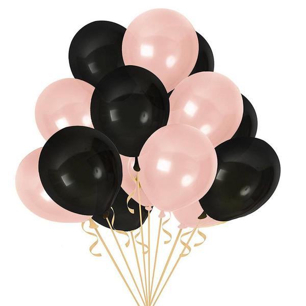 100 PCS 10 Polegada On-line Popular Balão De Látex De Ouro Preto para Casamentos Festivais Decoração Rose Gold Balloon