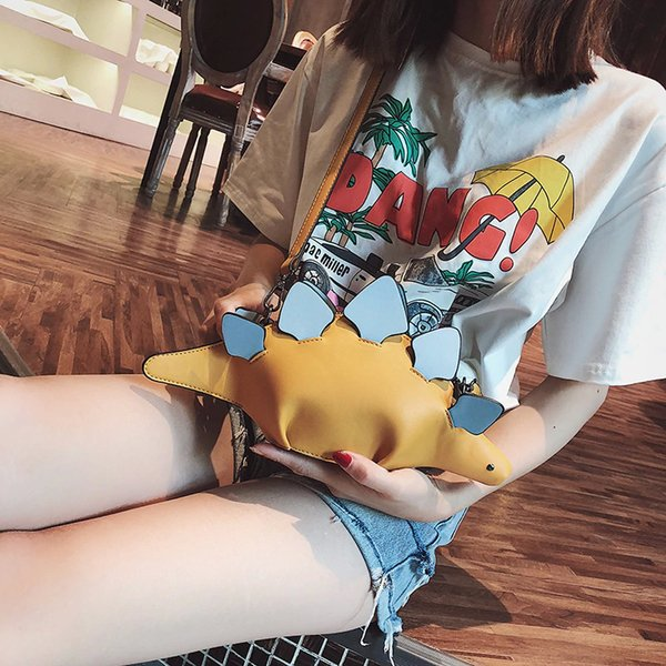 Pesonality Style Bag Dinosaur Crossbody Bag Color Block Creative Handbag Women's Unique Exclusive Clutch Fun Purse Best Gift