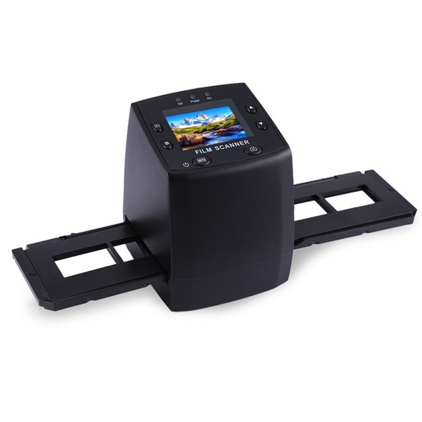 best selling Wholesale-EC717 5MP 10MP Film Scanner 3600DPI High Resolution Digital Converter 35mm USB Negative Viewer LCD Slide 2.4 TFT Photo Copier