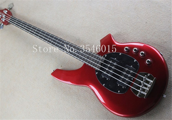 Free shipping Real photos Hot Selling High Quality2018 Active Pickup Musicman Bongo red 4 String Music Man Electric Bass Guitar