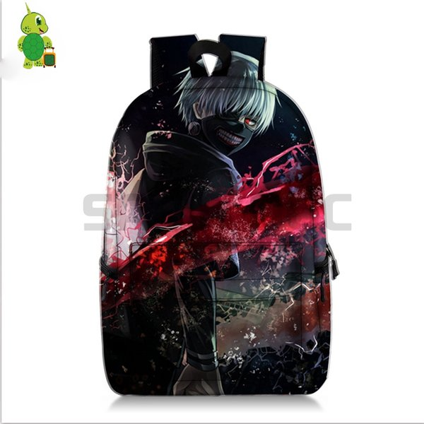 Anime Tokyo Ghoul Cosplay Backpack School Bags for Teenage Girls Boys  Laptop Backpack Kaneki Ken Travel Shoulder Bags f4aea07fe885b