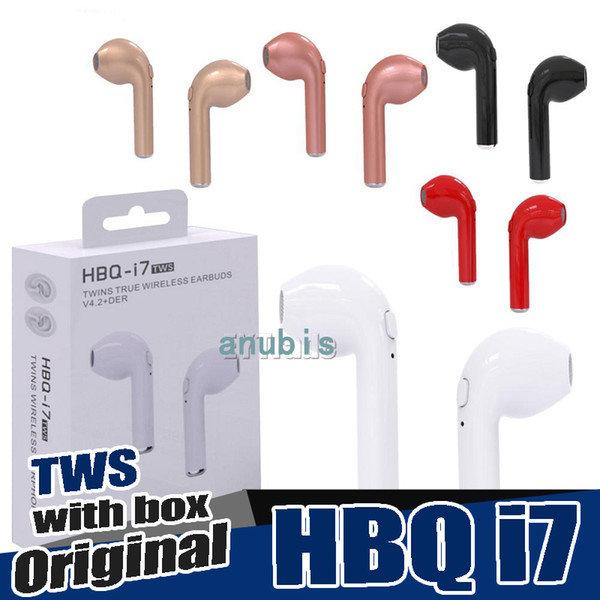 HBQ i7 i7S TWS Wireless Earphones Mini Bluetooth Headphones V4.2 DER Stereo Sports earphone For iPhone X 8 Note8 for all smartphone