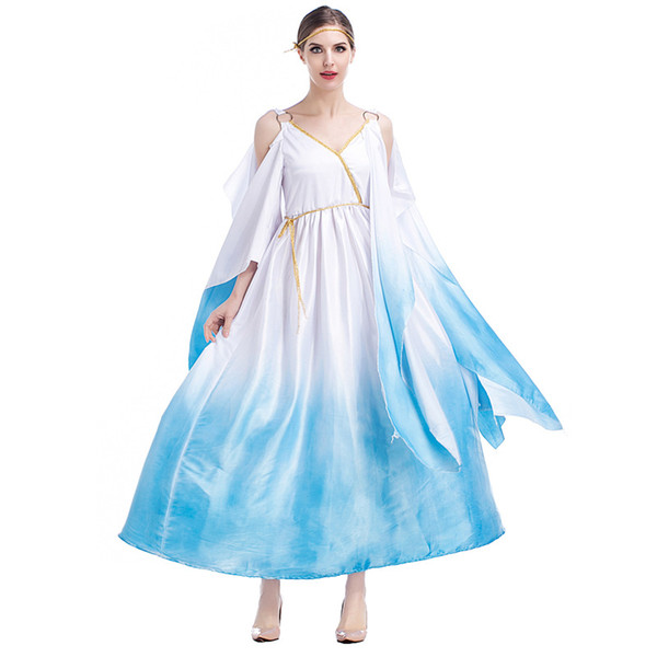 Deluxe Cleopatra Greek Goddess fancy dress Cosplay Party Dress Athena swing Skirt Costume Halloween cosplay costume For women