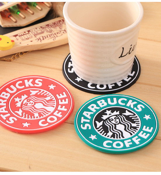 New Silicone Coasters Cup thermo Cushion Holder Starbucks sea-maid coffee Coasters Cup Mat