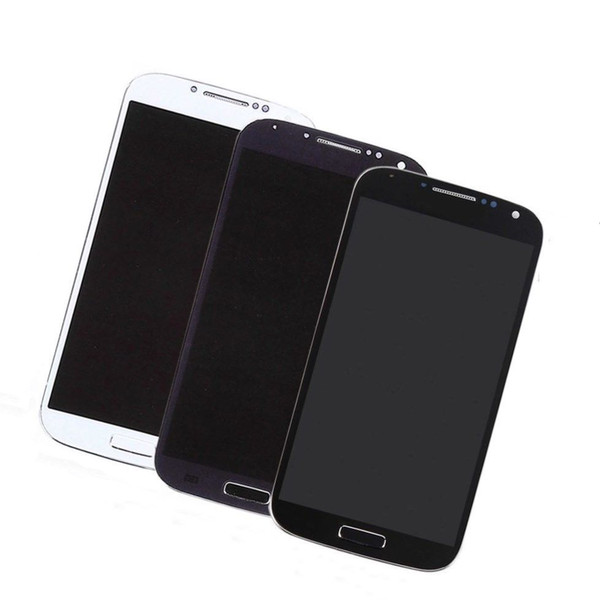 For Samsung Galaxy S4 Original LCD Display Touch Screen Digitizer white black blue free DHL AAA+++ l