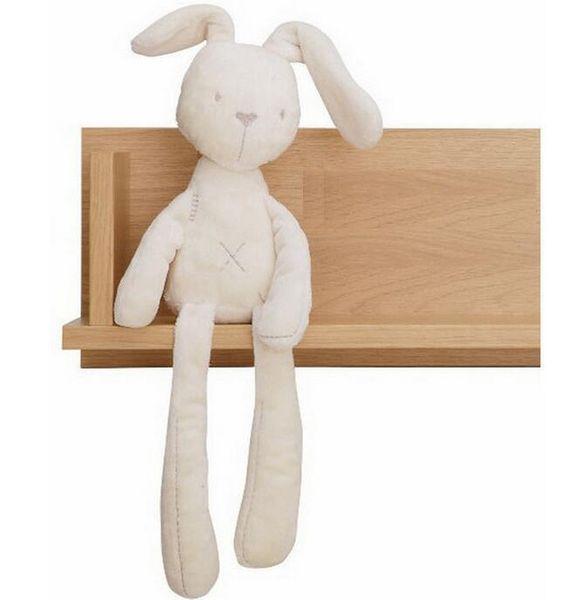 Kids Easter Rabbit Plush Toys White and Beige Soft Bunny Sleeping stuffed Doll Toddler Toys Kids Gift