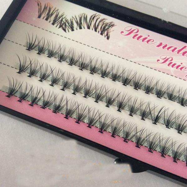 Wholesale 10 Roots 60pcs Makeup Individual Cluster Eye Lashes Natural Long Soft Grafting Fake False Eyelashes