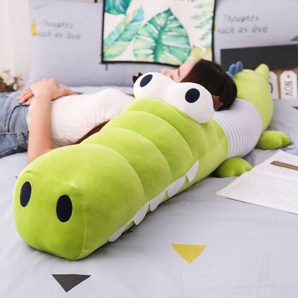 Cute Big Eyes Crocodile Plush Toy Cartoon Animal Stuffed Toys Plush Animal Pillow Kid Pregnant Woman Pillow Soft Cushion Gift