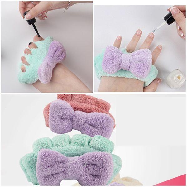 Nueva felpa suave flexible separador de dedos del dedo del pie separador de manicura pedicura herramientas genéricas de decoración de uñas