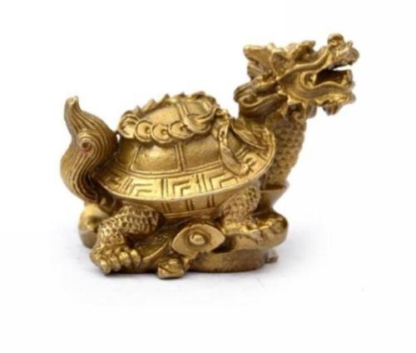 Small water turtle dragon turtle furnishing articles pure copper bronze