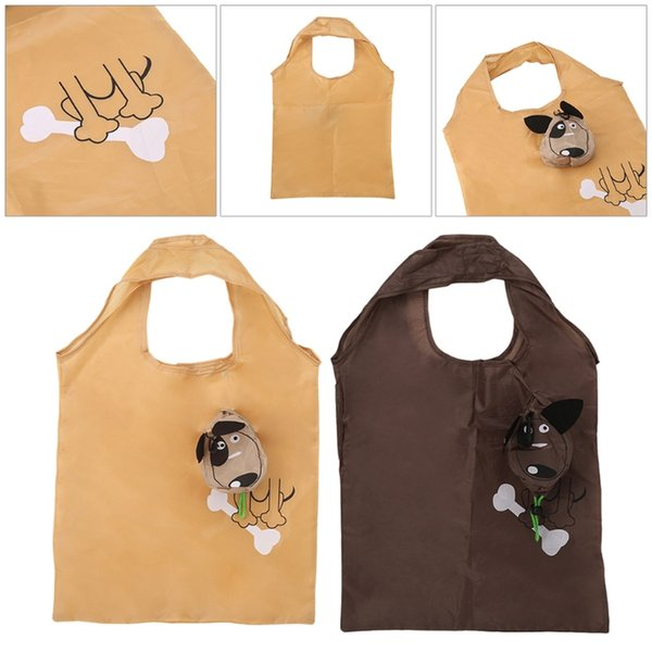 Cartoon Dog Foldable Folding Shopping Recycle Carrier Tote Reusable Eco Bag