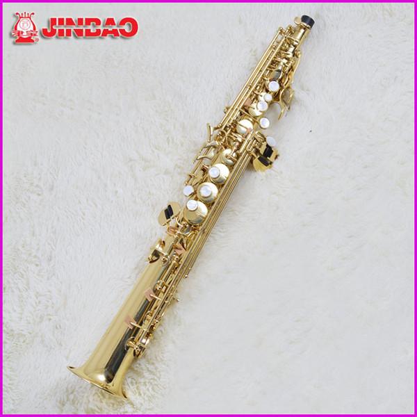 Оригинал jinbao JBSST-400 высокого тона сопрано саксофон One Piece прямой Б плоский ББ саксофон саксофон топ музыкальный инструмент